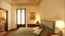 Camera Letto con Affreschi Villa Toscana Maremma