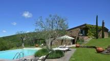 Giardino con Piscina Casale Toscana